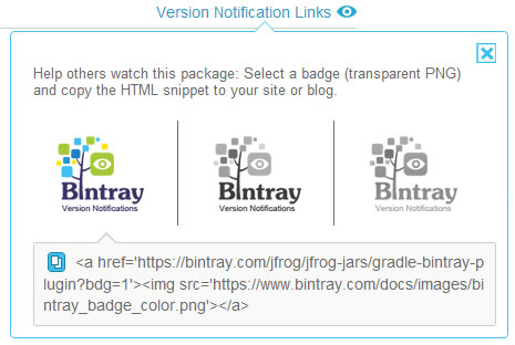 Version Notification Link Badge