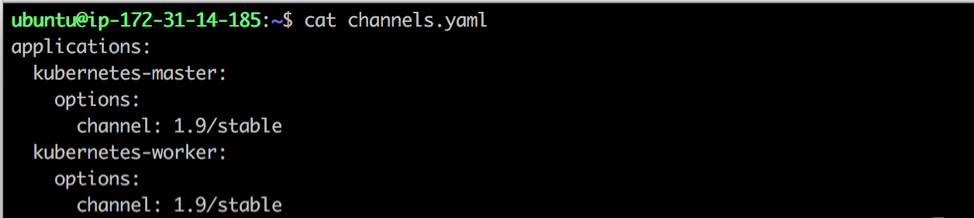 Create a channels.yaml file