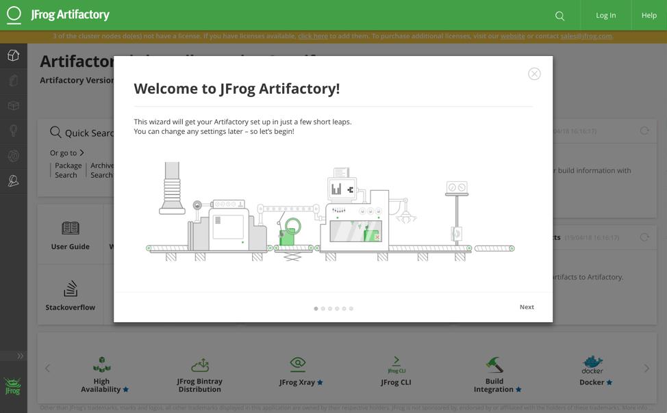 JFrog Artifactory Wizard