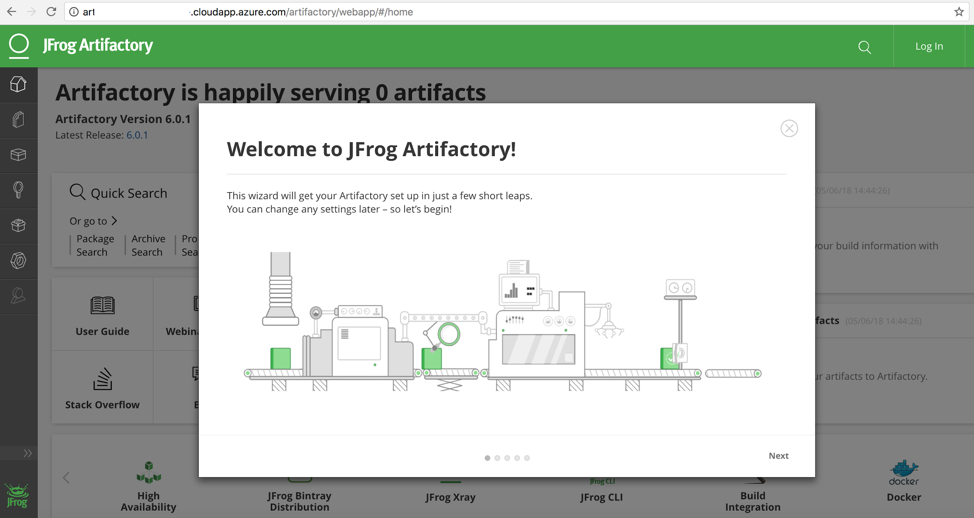 accessing Artifactory