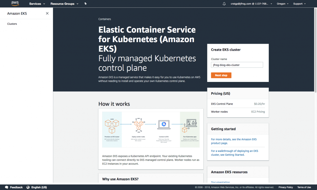 Create K8s Cluster in EKS AWS