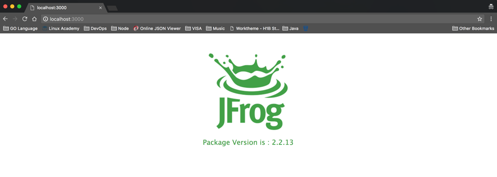 jfrog in the browser