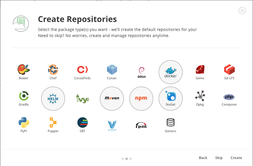 Universal Repositories in Artifactory
