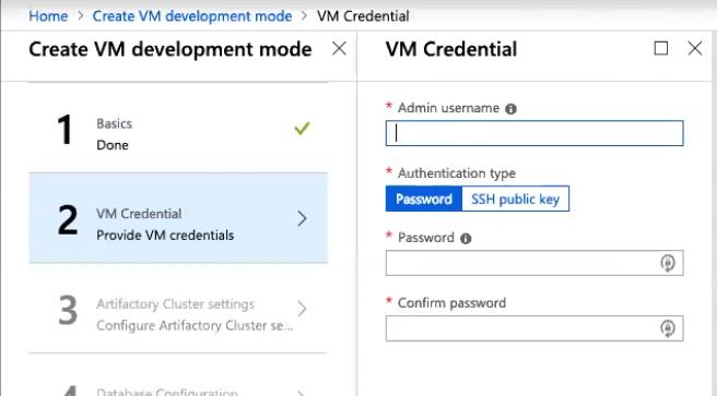 Form 2: VM Credentials