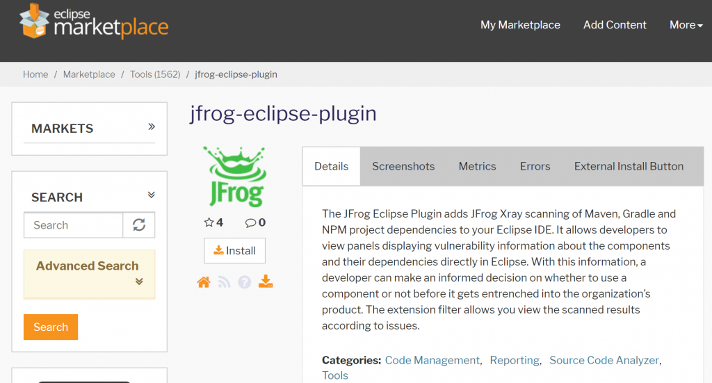 jfrog_eclipse_plugin
